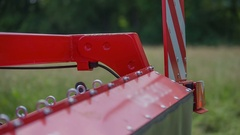 The outer part of the grass cutting machinery Stock Footage