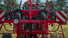 Agricultural machinery is moving up a bit Stock Footage