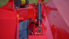 Moving part of the agricultural machinery Stock Footage