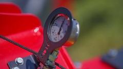 Measuring air pressure Stock Footage