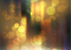 Abstract Circular Bokeh Golden Sparkling Glitter Background - Vector Illust.. Piirros