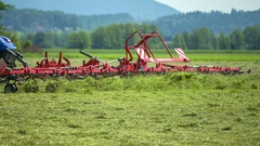 Dry hay is flying around Stock Footage