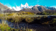 Fitz Roy scenic view Stock Footage