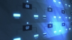 Closeup Shot of Blue Network Server Farm Lights Blinking Stock Footage