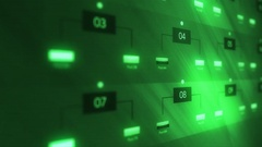 Closeup Shot of Green Network Server Farm Lights Blinking Stock Footage