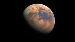 Mars, the red planet Stock Footage