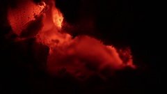 Burning wood in an old oven Stock Footage