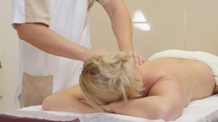 People, beauty, spa, healthy lifestyle and relaxation concept - close up of Stock Footage