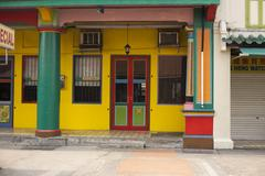 Colorful old building without people Stock Photos