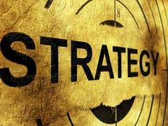 Strategy grunge target concept Stock Footage
