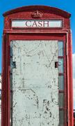 Abandoned Phone Box Stock Photos