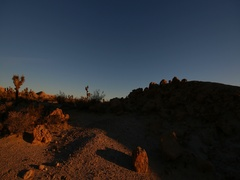 Time-lapse Red Rock Canyon State Park sunrise, California Stock Footage