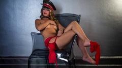 Sexy woman undress body dancer strip striplapse Stock Footage