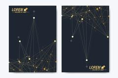 Modern vector template for brochure Leaflet flyer advert cover catalog magazine Stock Illustration