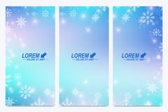 Modern Happy New Year set of vector flyers. Christmas background. Design Stock Illustration