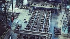 Workshops smelter. Machinery and equipment Stock Footage