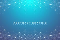 Geometric graphic background molecule and communication. Big data complex with Stock Illustration