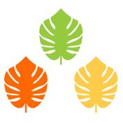 Exotic leaves colorful collection for your design Stock Illustration