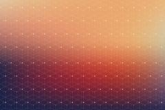 Geometric pattern with connected lines and dots. Graphic background connectivity Stock Illustration
