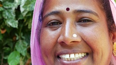 Portrait of Rural woman, Udaipur, India Stock Footage