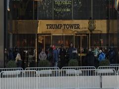 Trump Tower in New York City 5th avenue entrance door Stock Footage