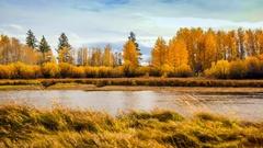 4K Deschutes River near Dillon Falls Bend OR Stock Footage