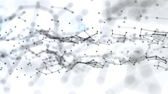 Abstract background with plexus connections wire frame web. Seamless looping. Stock Footage