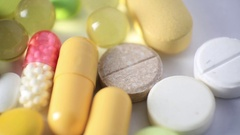 Close-Up Of Different Medication Pills Stock Footage