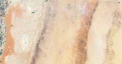 High-altitude aerial of Todhia Arable Farm and surrounding land, Saudi Arabia Stock Footage