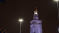 Palace of Culture and Science in Warsaw. Stock Footage