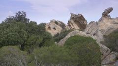 View from Bear rock on Sardinia.  Stock Footage