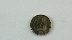 Turkish Coin  Detail Stock Footage