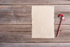 Blank for writing the letter or congratulations. Stock Photos