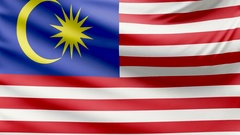 Realistic beautiful Malaysia flag 4k Stock Footage