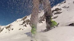 Speed riding flying down a mountain. Stock Footage