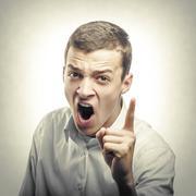 Young angry man. Stock Photos