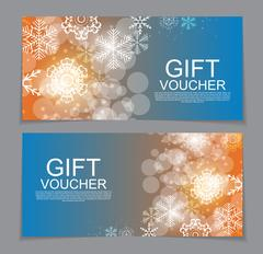 Gift Voucher Template for Christmas and New Year Discount Coupon Stock Illustration