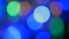 Moving particles. Colorful, blurred, bokeh lights background. Abstract sparkles. Stock Footage