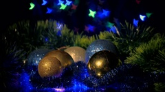 Christmas and New Year Decoration. Bauble close up. Stock Footage