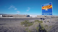 Arizona Welcome Sign  Stock Footage