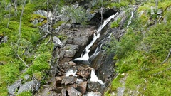 Stream from the waterfall in Voringfossen Stock Footage