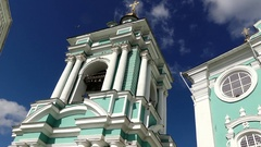 Assumption Cathedral in Smolensk, Russia Stock Footage
