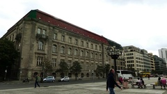 Konzerthaus and Neue Kirche in Berlin, Germany Stock Footage