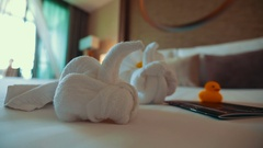 Thailand Bangkok November 21 The interior rooms in the hotel five stars Stock Footage