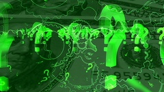 Question marks and American money looping background Stock Footage