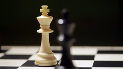Chess kings with shifting focus Stock Footage