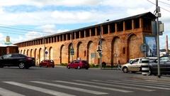 Smolensk Kremlin is fortress, enclosing center of city of Smolensk in western Ru Stock Footage