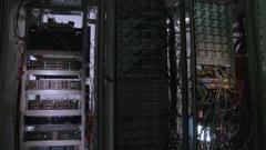 Server Room Racks Stock Footage