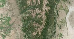 High-altitude overflight aerial of the Uinta Mountain Range, Utah Stock Footage
