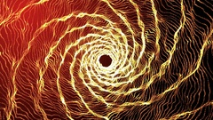 4k intro Flight through the tunnel. Animation abstract orange background Arkistovideo